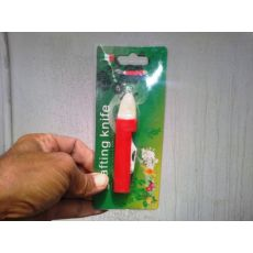 Aşı Bıçağı Kırmızı Plastik Saplı
